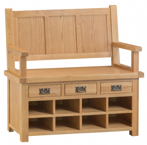 Cornish Oak Monks Bench